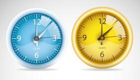Two vector clock. Stock Photos