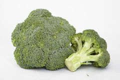 Two broccoli Stock Photo