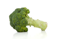 Two broccoli florets on white Royalty Free Stock Photos