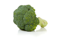 Two broccoli florets on white Royalty Free Stock Photo