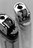 Two Broken Lighters. Seen from above Royalty Free Stock Photography