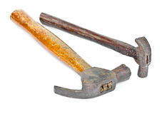 Two broken old hammers. Stock Photo
