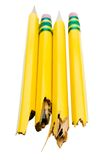 Two broken pencils Stock Photos