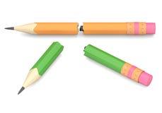 Two broken pencils Stock Images
