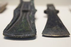 Two Bronce Age Axe Heads Royalty Free Stock Image
