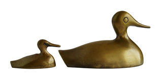 Two bronze ducks Royalty Free Stock Photography