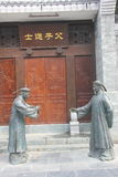 Two bronze statues of officials in the Qing Dynasty Royalty Free Stock Photos