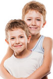 Two brother boys Stock Images