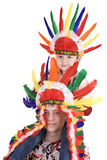 Two brother in indian costume. Royalty Free Stock Photos