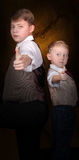 Two brother like detective partners Royalty Free Stock Images