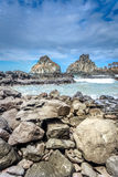 Two brother rocks,Landscape of huge rock near the beach in Fernando de Noronha Royalty Free Stock Images
