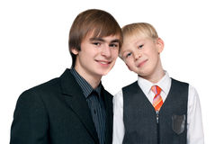Two brothers Stock Photos