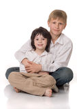 Two brothers. Big and little Royalty Free Stock Photography