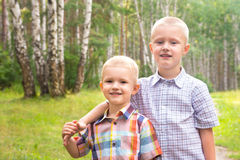 Two brothers Royalty Free Stock Photos