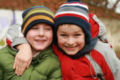 Two brothers - best friends Stock Image