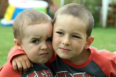 Two brothers - best friends Stock Photo