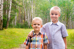 Two brothers (children, friends) Royalty Free Stock Images