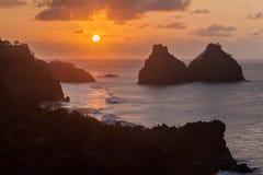 Two Brothers Fernando de Noronha Island Royalty Free Stock Image