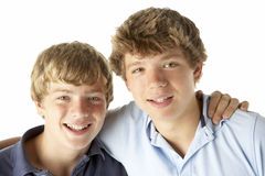 Two Brothers Happy Together Stock Image
