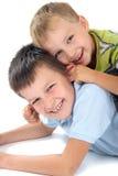 Two brothers having fun Stock Photos