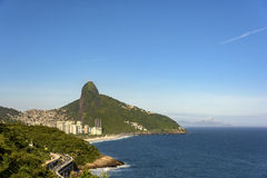 Two Brothers Hill. View of Two Brothers hill, the viaduct Joa and Sao Conrrado beach Stock Photography