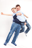 Two Brothers Laughing and Playing Royalty Free Stock Photography