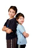 Two brothers of mix parentage Royalty Free Stock Photos