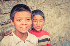 Two brothers in Nepal Stock Photo