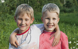 Two brothers Stock Image