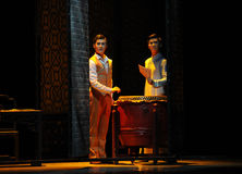 The two brothers-The second act of dance drama-Shawan events of the past. Guangdong Shawan Town is the hometown of ballet music, the past focuses on the Royalty Free Stock Images
