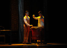 The two brothers-The second act of dance drama-Shawan events of the past. Guangdong Shawan Town is the hometown of ballet music, the past focuses on the Royalty Free Stock Photography