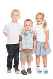 Two brothers and a sister are in full growth Stock Photography