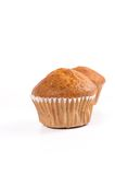 Two brown banana muffin in paper cupcake holder Stock Images