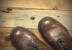 Two brown boots Royalty Free Stock Photography