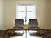 Two brown chairs Royalty Free Stock Photography