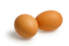 Two brown egg with clipping path Royalty Free Stock Photography