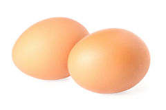 Two brown eggs Stock Photography