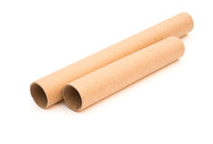 Two brown empty rolls Stock Image