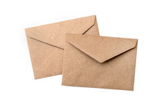 Two brown envelope Stock Photo