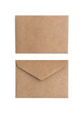 Two brown envelope. On a white background Royalty Free Stock Photo