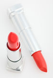Two brown lipsticks isolated over white Stock Images