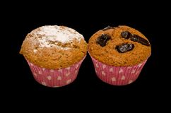 Two brown muffins I Stock Photo