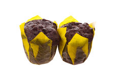 Two brown muffins Royalty Free Stock Image