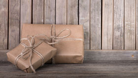Two Brown Packages Royalty Free Stock Image
