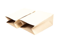 Two brown paper bag Stock Photos