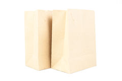 Two brown paper bag Royalty Free Stock Photo