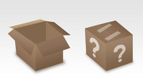 Two brown paper box Stock Photography