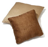Two brown pillows Stock Photo