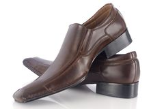 Two brown shoes Royalty Free Stock Photo