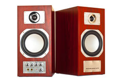 Two brown speakers Royalty Free Stock Photo